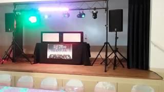 Dj Vibe audio & lighting check for quinceñera
