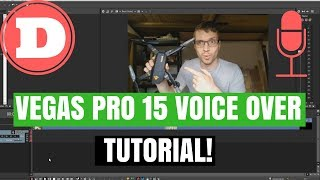 Sony Vegas Pro 15 - How To Record Your Voice - Voice-Over Tutorial