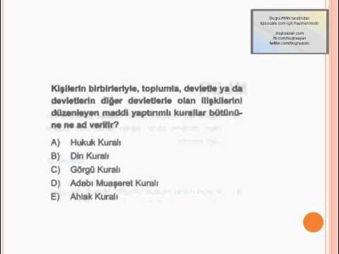 KPSS 2012 - Anayasa Mini Test ( Temel Hukuk Bilgileri )  - kpsscafe.com