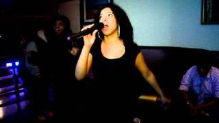 Superstar Karaoke @ Machavelle In Brooklyn.  Bartender: Man Down - Rihanna