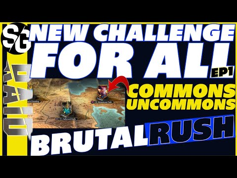 RAID SHADOW LEGENDS | JOIN THE NEW CHALLENGE | BRUTALRUSH with commons & uncommons starting soon.