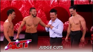 Messoudi Brothers: Force Their Dad Out Of Retirement For RISKY Move! | America's Got Talent 2019