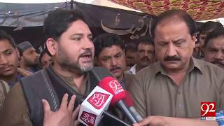 Faisalabad: Secretriat Clothes market traders on protest after 2 days of firing incident - 17 Feb 18