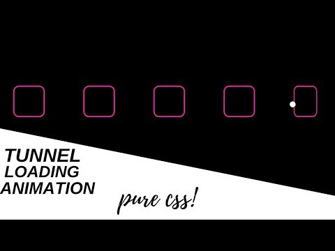 Download thumbnail for Amazing Pure Css Tunnel Loading Animation