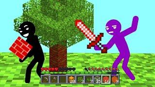 Stickman VS. Minecraft