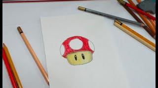 Como desenhar o Super Cogumelo do Super Mário