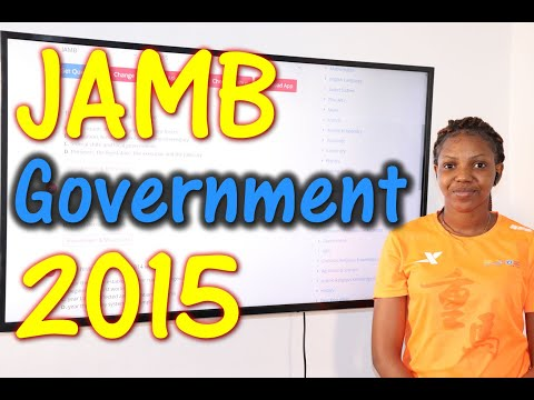 JAMB CBT Government 2015 Past Questions 1 - 20