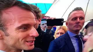 Macron pris par surprise et humilié par une retraitée en plain air.