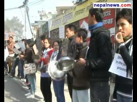 Eastern Star in Nepal ,Rights activists stage protest in front of PM residence.Uploaded by Ghanshyam