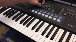 Gnarly Akai AX60 VCO modulation to VCF