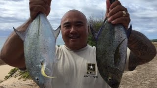 BACK TO BACK OMILU (BLUEFIN TREVALLY) STRIKE & CAUGHT ON GT ICE CREAM PLUG/LURE!