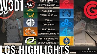 LCS Highlights ALL GAMES Week 3 Day 1 Spring 2019  League of Legends NALCS W3D1