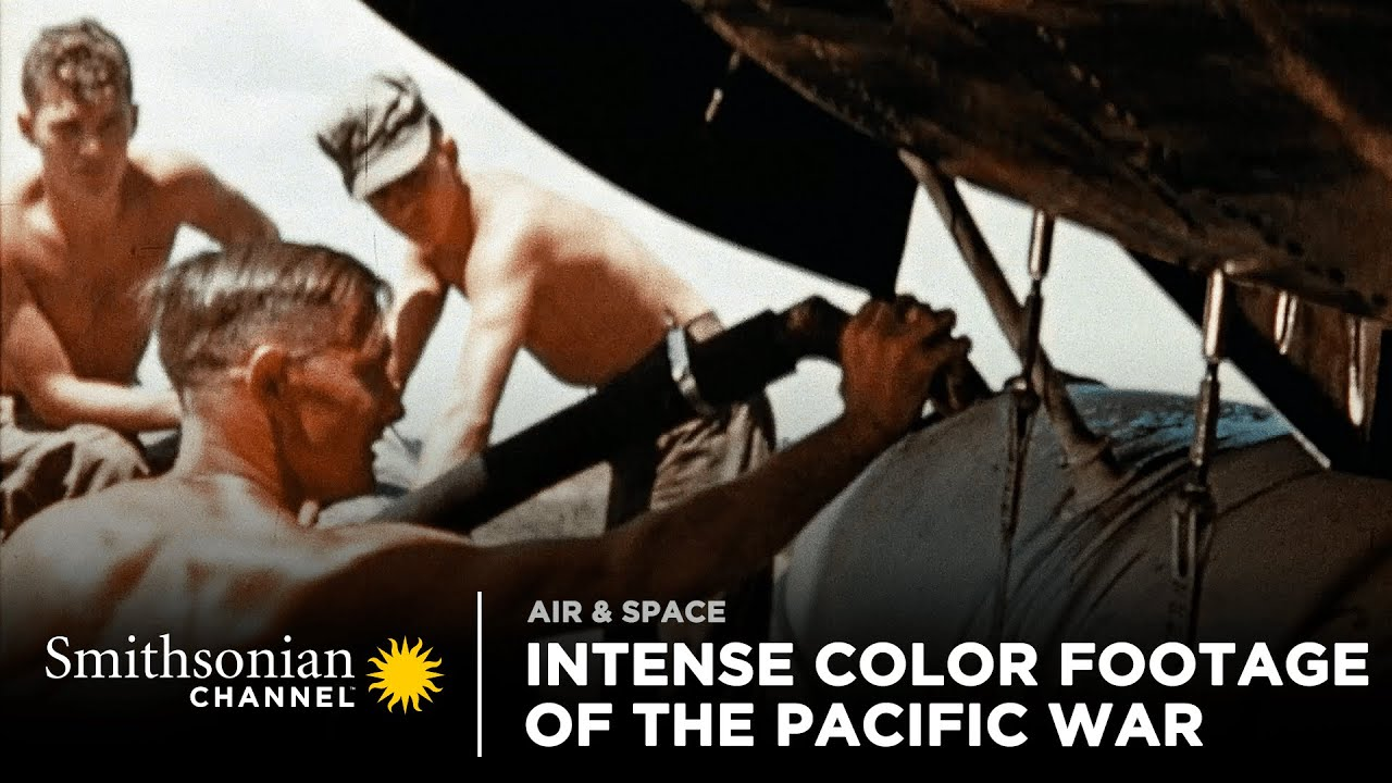 Footage captures the intensity of the Pacific War