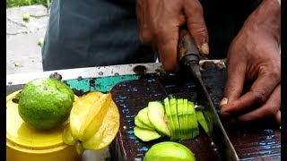 SPECIAL Tasty Masala AMBARELLA \ STAR FRUIT \ GUAVA Mixed - Indian Street Food Kolkata width=