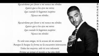 Maluma - Recuerdame (con letra) Lyrics