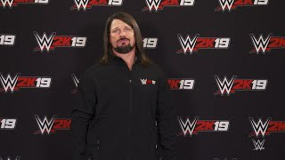 WWE 2K19 cover Superstar AJ Styles introduces the Million Dollar Challenge