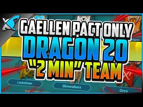 "GAELLEN PACT ONLY DRAGON 20 | ""2 MIN"" Team & Champion Builds | RAID: Shadow Legends"