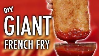 DIY GIANT FRENCH FRY width=