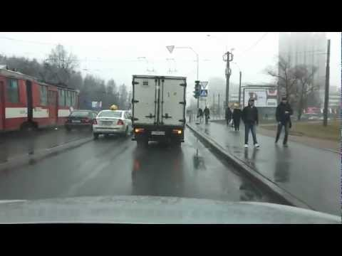 Volswagen Passat CC and Truck  crash