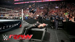 Shane McMahon attacks The Undertaker before WrestleMania: Raw, March 28, 2016 width=