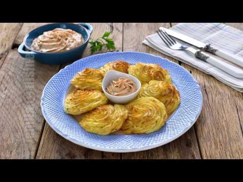 Cartofi duchesse cu crema de branza