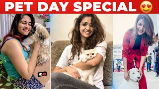 WOW: Famous Celebrities With their Cute Pets 😍   International Pet Day   Samantha   Keerthy , Gouri