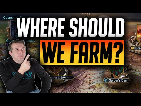 WHAT LEVEL DUNGEON & POTION KEEPS SHOULD I FARM? | Raid: Shadow Legends