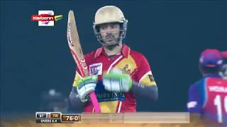 Akhil Akkineni Hitting 3 Sixes In 3 Balls | Telugu Warriors VS Bengal Tigers | CCL T10 Blast 2017