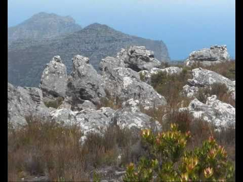 Trekking on Table Mountain in Cape Town, South Africa
