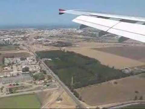 QR A300 Landing at Algiers Airport