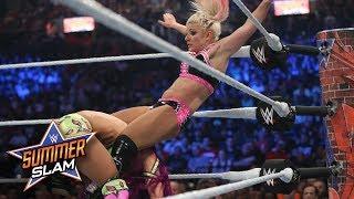 Sasha Banks sends Alexa Bliss crashing into the turnbuckle: SummerSlam 2017 (WWE Network Exclusive)