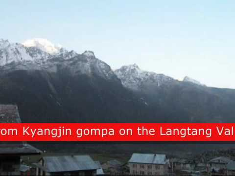 View from Kyangjin Gompa.Langtang Trek