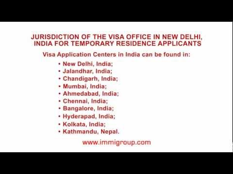 Jurisdiction of the visa office in New Delhi, India for temporary residence applicants