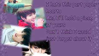 Jeon Jungkook - Paper Hearts [Cover] [Lyrics]