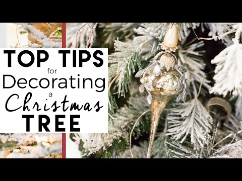 How to Decorate a Christmas Tree with Decorations #1