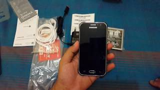 Unboxing samsung galaxy J1ace  2016 indonesia width=