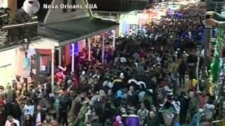 Cidade de Nova Orleans, nos EUA, comemorou ontem o Mardi Gras