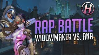 [Overwatch] WIDOWMAKER VS ANA: Rap Battle With Voice Lines