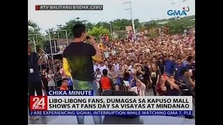 Libo-libong fans, dumagsa sa Kapuso mall shows at fans day sa Visayas at Mindanao