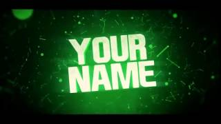 Free 3D Intro Template #1 | After Effects, C4D, Sony Vegas Pro | Green