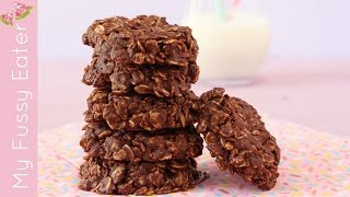No Bake Chocolate Granola Cookies | Healthy Kids Cookies