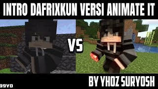 REMAKE INTRO DAFRIXKUN from c4d to animate it | INTRO ANIMATE IT #19 DafrixKun by yhoz Suryosh