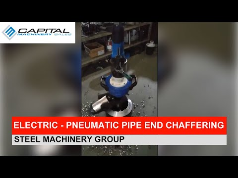 Electric - Pneumatic Pipe End Chaffering Machine