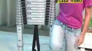 CASA&VIDEO Escada 12 Degraus Alumínio Telescópica Metasul