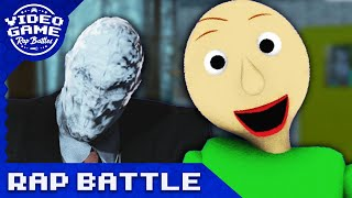 Slender Man vs. Baldi's Basics - Video Game Rap Battle