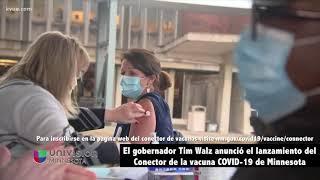 El gobernador Tim Walz anunció el lanzamiento del Conector de la vacuna COVID-19 de Minnesota