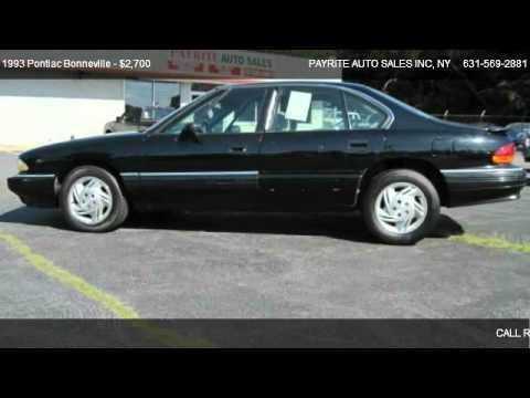 1993 Pontiac Bonneville Problems Online Manuals And