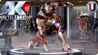 Iron Man Mark 42 Suit Up - Iron Man 3 - MOVIE CLIP (4K HD)