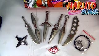 Naruto Metal Weapon Keychain Collection Set