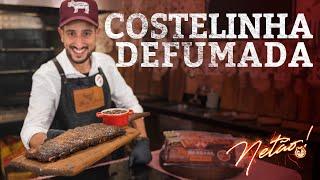 Costelinha Defumada e Molho Barbecue Caseiro no PitSmoker - Smoked Pork Ribs | Netão! Bom Beef #65